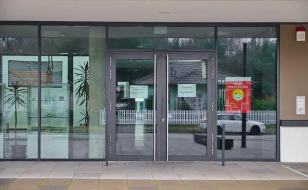 Eingang zum Vicco-von-Bülow-Gymnasium. Foto: Stephan Laude