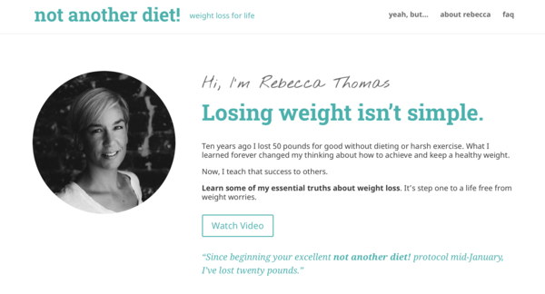 not another diet! - weight loss for life