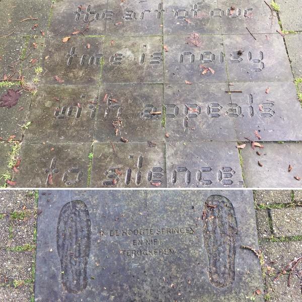 Kunststappen in Delden: Philomeen Raemaekers (boven) en Johan van der Veen.