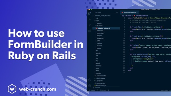 How to use FormBuilder in Ruby on Rails
