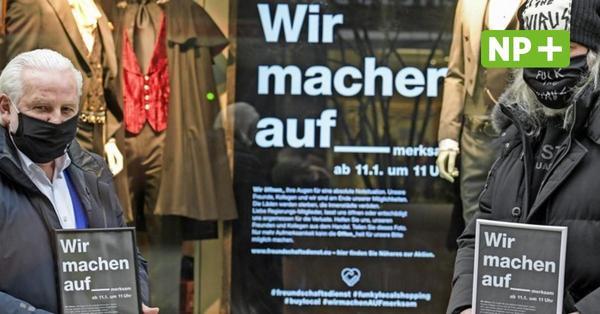 Lockdown: Modehändler in Hannover erinnern mit Plakaten an Notsituation