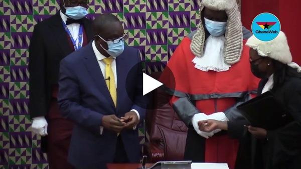 Swearing-in of Alban Bagbin as Speaker of Parliament