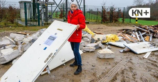 Illegaler Müll in Felde: Massenweise Bauschutt in die Natur gekippt