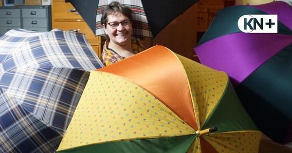 Carola Vertein aus Hasenmoor fertig in fünfter Generation Schirme an