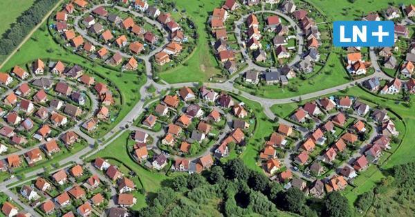 Siedlung Bornkamp von oben - jetzt als Briefmarke