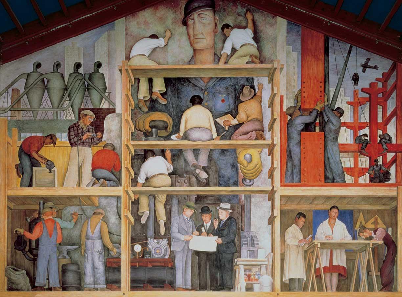 "Diego Rivera, ""Making a Fresco"" (1931) at SFAI's Diego Rivera Gallery (via Joaquín Martínez/Flickr)"