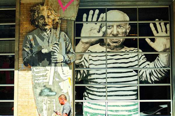 Albert Einstein and Pablo Picasso are 2 of the most famous creative people in both science and art. They were inspired and also have inspired countless people. Einstein & Picasso, New York City, August 2010.