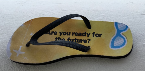 The future is a CHOICE - not a destiny! (my fav flip flops)