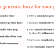 Generating buzz