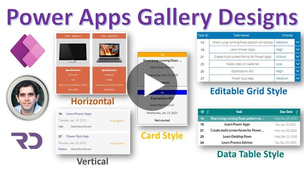Power Apps Gallery Design Ideas