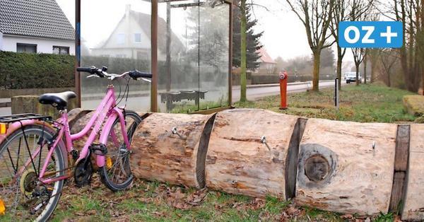 Bremerhagen: Ein origineller und rustikaler Fahrradständer