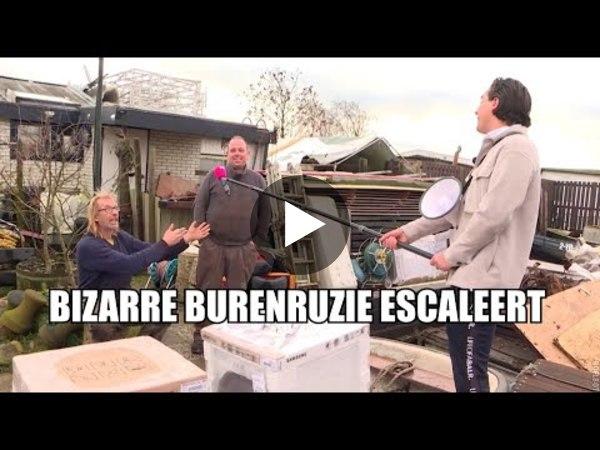 HOOGMADE - PowNed bij burenruzie door troep beruchte buurman (video)