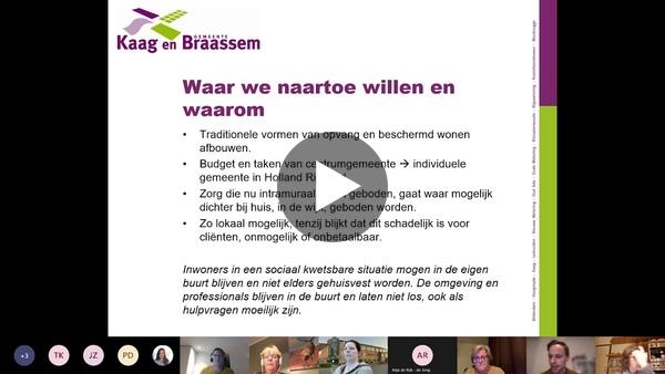 KAAG EN BRAASSEM - Integrale opname van bijeenkomst Sociaal Domein gehouden op 25 november 2020 (video)