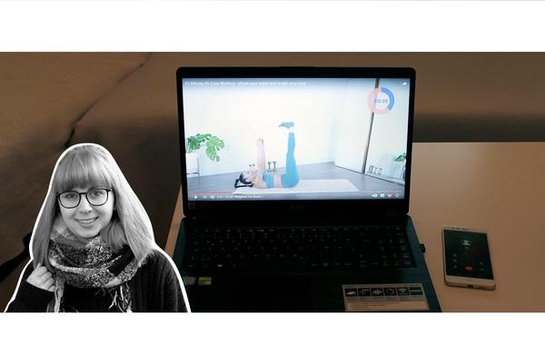 OZ-Autorin Gina Henning rät zu gemeinschaftlichem Sport vor dem Laptop.