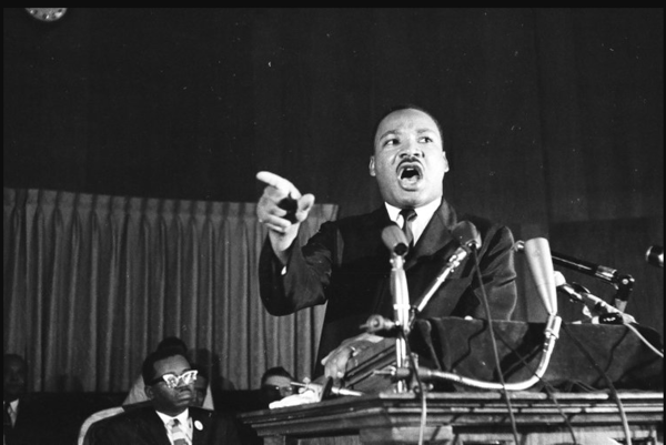Dr. Martin Luther King, Jr., speaks at El Bethel Baptish Church in Chicago on July 24, 1965, part of a three-day campaign culminating in a rally. Ralph Arvidson/Chicago Sun-Times