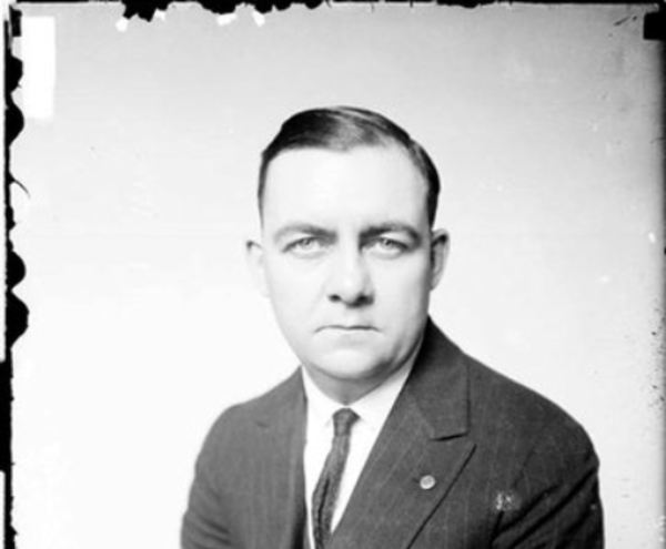 Crime reporter Robert J. Casey, pictured here in 1922, joined the Chicago Daily News in 1920. He covered everyday crime, such as the story described below, as well as major events, including the shooting of John Dillinger in 1934. From the Sun-Times archive.
