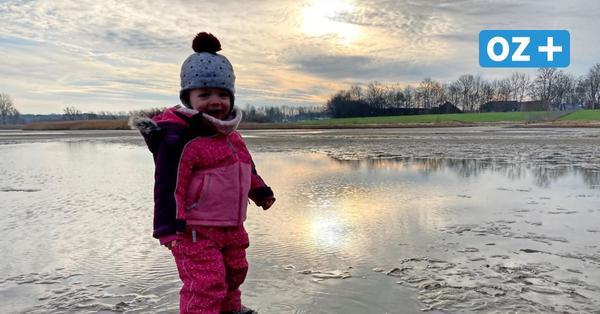 Winterspaß in Greifswald am Strand von Eldena