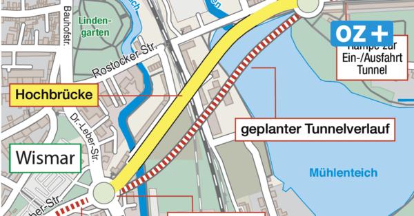 Straßenprojekte in Wismar: Tunnel und Kreisel statt Hochbrücke und Ampeln