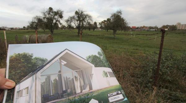 Wo noch Apfelbäume stehen, sollen bald neue Häuser gebaut werden.