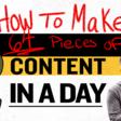 Come creare 64 contenuti nativi in un giorno.