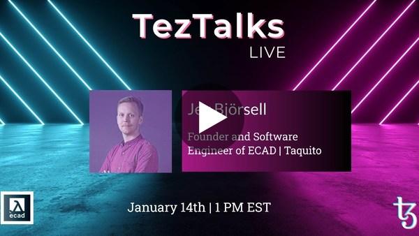 TezTalks Live #19 - Jev Björsell