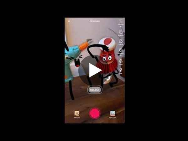 TikTok AR effect Cartoonify real-life objects