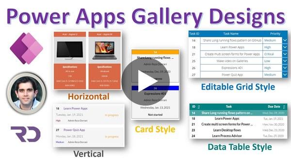 Power Apps Gallery Design Ideas