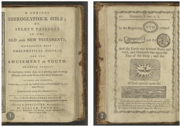 Isaiah Thomas's Hieroglyphics Bible of 1788