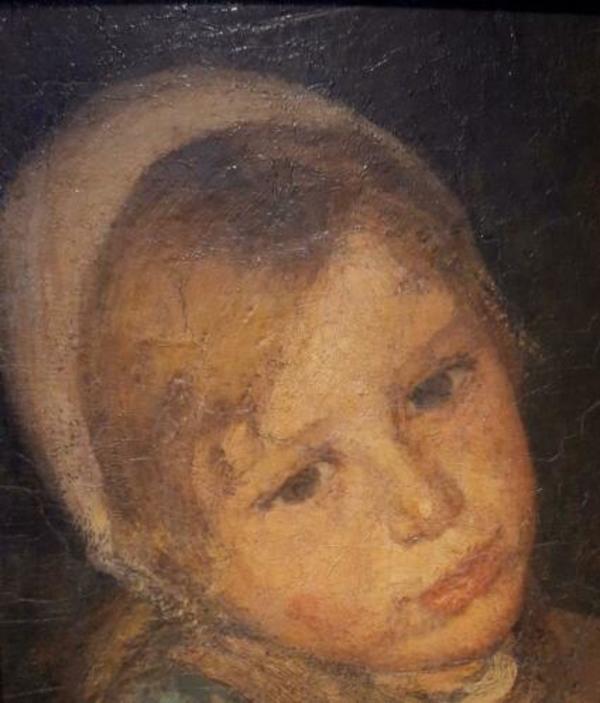 ≥ Wally Moes 1856-1918 biddend meisje uit Laren - Kunst | Schilderijen | Klassiek - Marktplaats.nl