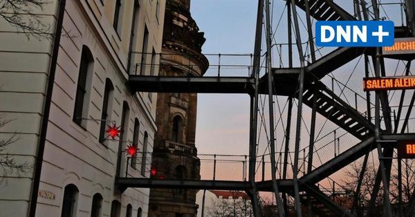 Kunstinstallation am Landhaus in Dresden: Ist das Orient oder Nahost?