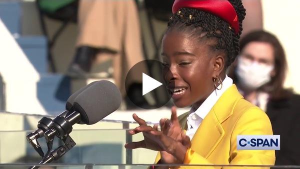 National Youth Poet Laureate Amanda Gorman at Presidential Inauguration