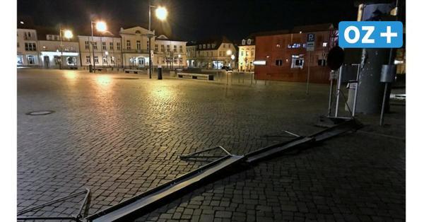 Hupkonzert und Verfolgungsjagd: Polizeieinsatz auf dem Markt in Ribnitz-Damgarten