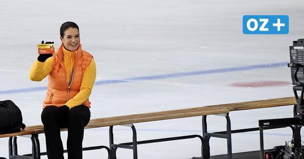 Katarina Witt in Heringsdorf: So lief der Werbespot-Dreh mit dem Eiskunstlauf-Star