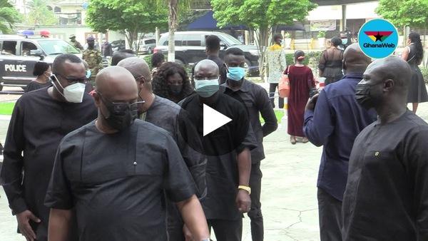 Akufo Addo, Bawumia, Mahama arrive at requiem mass held for Jerry John Rawlings