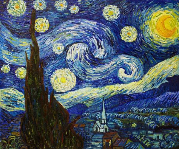Vincent van Gogh, Starry Night, 1889 was painted during his stay at the asylum of Saint-Paul-de-Mausole near Saint-Rémy-de-Provence. It is considered the number 2 most well known paintings after the Mona Lisa.