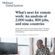McKinsey: What 800 execs envision for the post-pandemic workforce