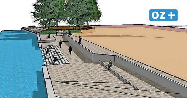 Sanierung des Strandbads in Stralsund: Wasserbauer setzen neue Spundwand