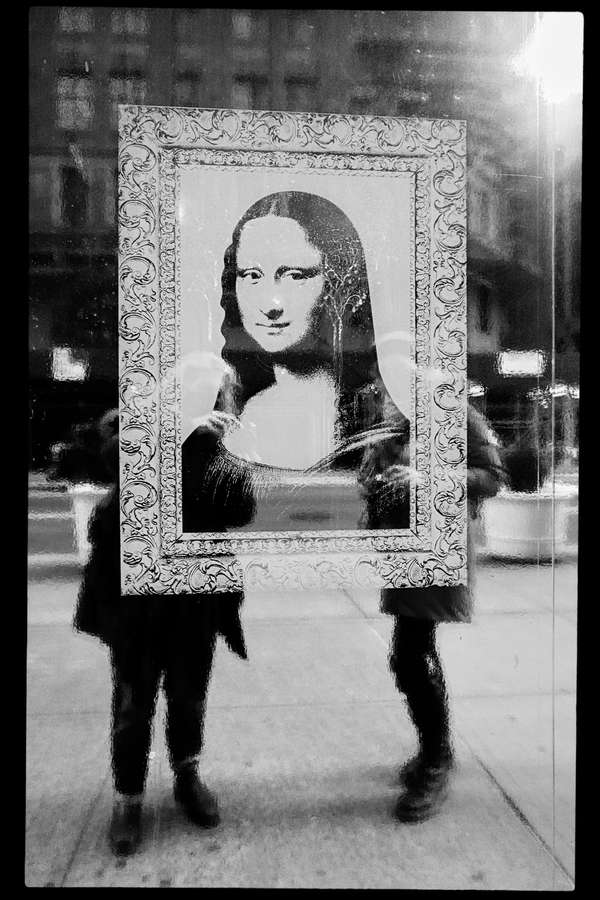 Me and Mona Lisa and Antje, New York City, 21 December 2021