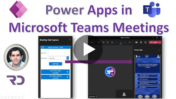 Create Teams Meeting Apps with Power Apps