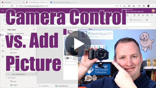 Power Apps Camera Control, Add Picture Control, and Optimize Image for Upload