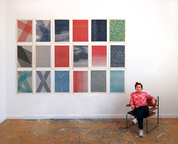 Caroline Kryzecki, studio view, Residency at The Josef and Anni Albers Foundation, 2019
