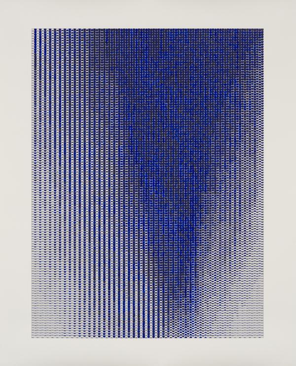 Caroline Kryzecki, BB 190/150–01, water colour and screen print on paper, 190 x 150 cm