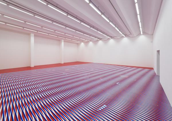 Caroline Kryzecki, floor piece 2, screen prints on paper, Sexauer Gallery, Berlin 2017