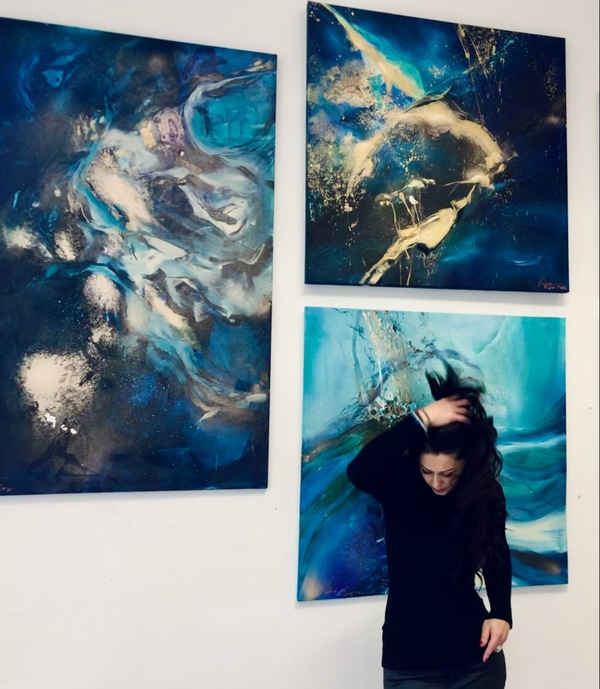 Andrea Ehret and her paintings