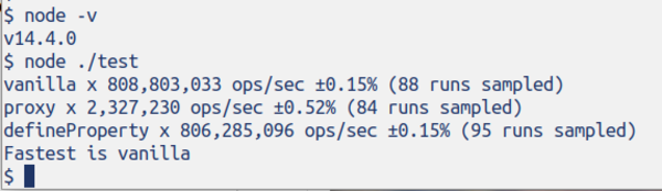 Proxies are still much slower in Node.js 14