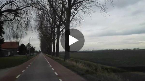 KAAG EN BRAASSEM - Dick Hoogendam reed door de polders van Leiderdorp naar Abbenes en kwam langs en door onder andere Rijpwetering en Nieuwe Wetering (video)