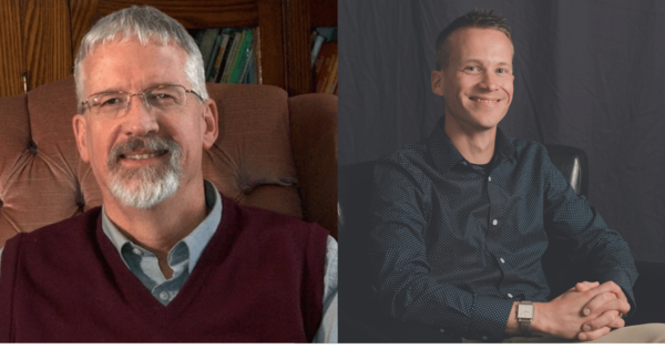 Alumnus Jim Houston and his son, Dr. Joel Houston, who also attended Briercrest College. Bonus: Joel and returned last year as an Assistant Professor of Theology in the College and Seminary!