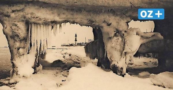 Beeindruckende Fotos aus Warnemünde im Winter 1929: Wie das Ostseebad im Eis versank