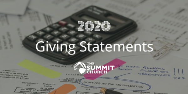 Looking for your 2020 Giving Statement from the Summit? Click the image above for everything you need to know!
