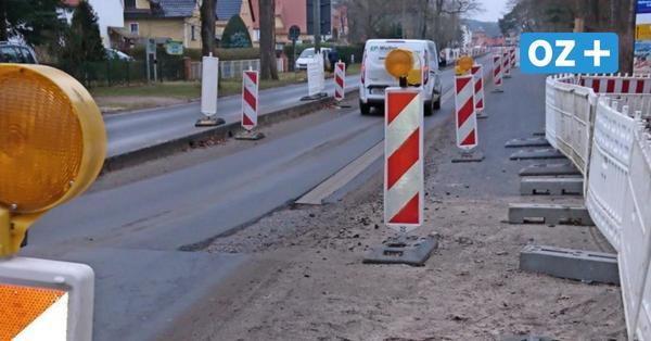 Baustelle Ortsdurchfahrt Ahlbeck: Mitte Februargehen die Arbeiten weiter